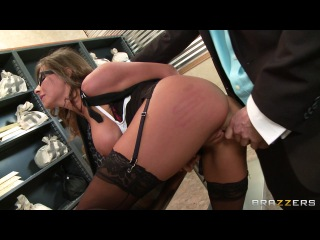 Tied Up and Spanked at the Bank – Madison Ivy & James Deen (Big Tits at Work)