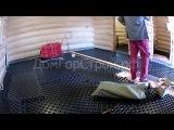 Процесс укладки матов Varionova  для системы водяных теплых полов